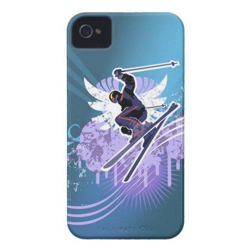Coma la caja del iPhone 4 del esquí del sueño Case-Mate iPhone 4 Fundas