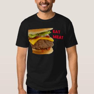 Coma la camisa del cheeseburger de la carne