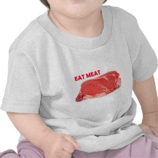 Coma la camisa del filete de Ribeye de la carne