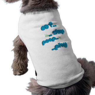 Coma. la camisa del perrito de .sleep. .poop. .pla playera sin mangas para perro