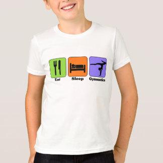Coma la camiseta de la gimnasia del sueño remera
