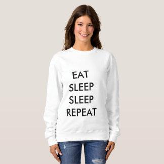 coma la camiseta de la mujer de la repetición del poleras