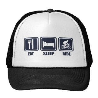 Coma la camiseta de la repetición del paseo del gorras de camionero