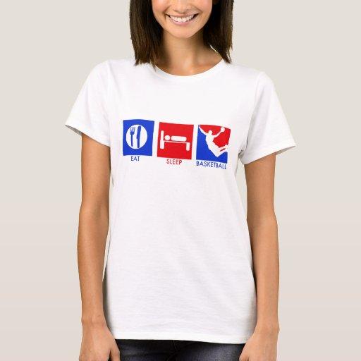 Coma la camiseta de las mujeres del baloncesto del
