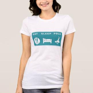 Coma la camiseta de las señoras de poste del sueño