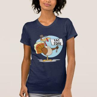 Coma la camiseta de las señoras del queso de soja playeras