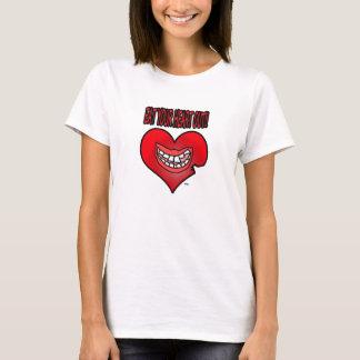 Coma la camiseta de sus mujeres del corazón hacia