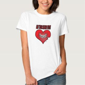 Coma la camiseta de sus mujeres del corazón hacia camisas