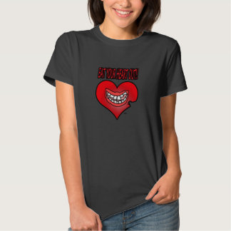 Coma la camiseta de sus mujeres del corazón hacia playera