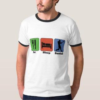 Coma la camiseta del béisbol del sueño polera