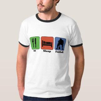 Coma la camiseta del fútbol del sueño playeras