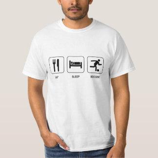 Coma la camiseta del valor del fútbol del sueño playeras