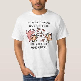 Coma la camiseta del valor del humor de los remeras