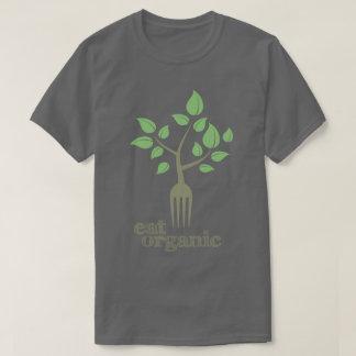 Coma la camiseta natural de la salud del lema del