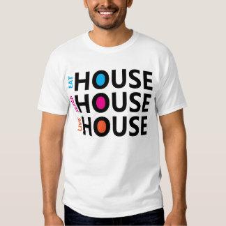 Coma la camiseta viva de la casa del sueño poleras
