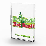 Coma la carne de vaca de la hoja no