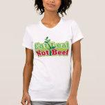 Coma la carne de vaca de la hoja no camiseta