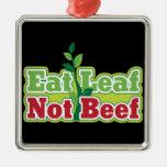 Coma la carne de vaca de la hoja no ornamentos para reyes magos