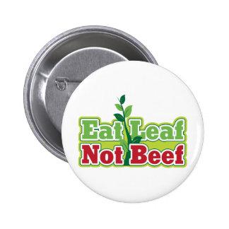Coma la carne de vaca de la hoja no pin
