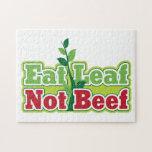 Coma la carne de vaca de la hoja no rompecabezas