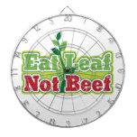Coma la carne de vaca de la hoja no tabla dardos