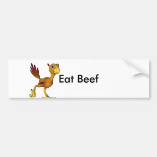 Coma la carne de vaca en vez de pavo este año pegatina para auto