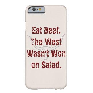 Coma la carne de vaca que el oeste no fue ganado funda para iPhone 6 barely there