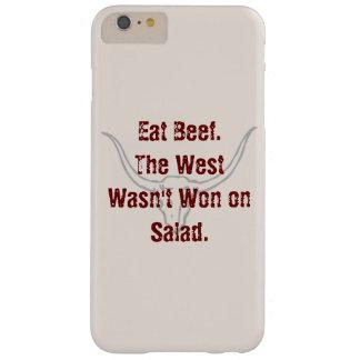 Coma la carne de vaca que el oeste no fue ganado funda para iPhone 6 plus barely there