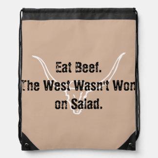 Coma la carne de vaca que el oeste no fue ganado mochilas