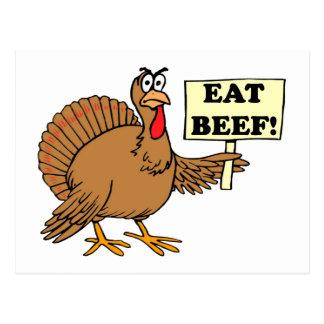 Coma la carne de vaca postales