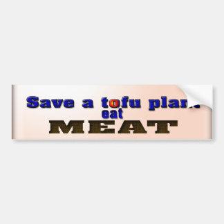 Coma la carne pegatina para auto