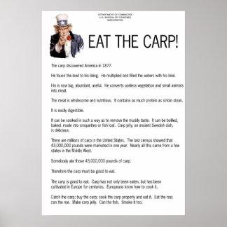 ¡Coma la carpa! Posters