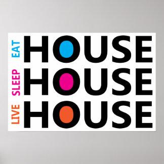 Coma la casa viva del sueño póster