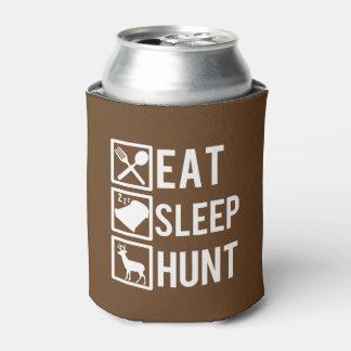 Coma la caza del sueño divertida enfriador de latas