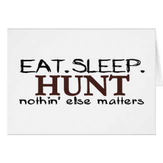 Coma la caza del sueño tarjeta