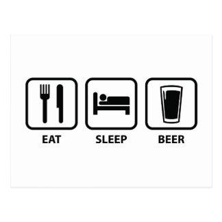 Coma la cerveza del sueño postales