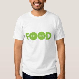 Coma la comida real remeras