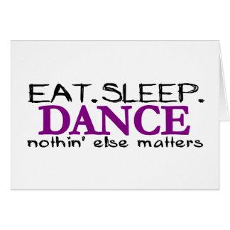Coma la danza del sueño tarjeta de felicitación