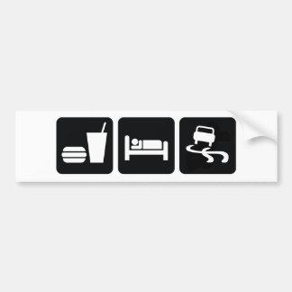 Coma la deriva del sueño pegatina para auto