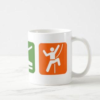 Coma la escalada del sueño tazas de café