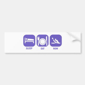 Coma la fila del sueño etiqueta de parachoque