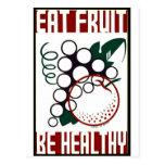 Coma la fruta - sea sano - poster de WPA - Postal