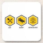 Coma la genealogía del sueño posavasos de bebidas