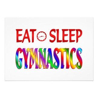 Coma la gimnasia del sueño anuncio personalizado