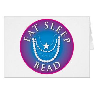 Coma la gota del sueño tarjeta de felicitación