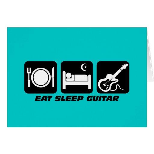 coma la guitarra del sueño tarjeta de felicitación