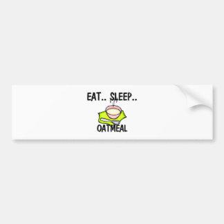 Coma la HARINA DE AVENA del sueño Etiqueta De Parachoque