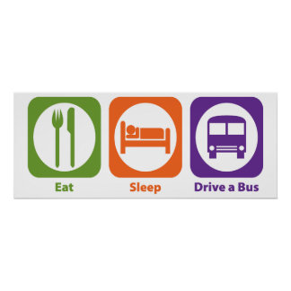 Coma la impulsión del sueño un autobús póster