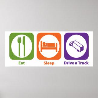 Coma la impulsión del sueño un camión póster