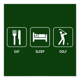 Coma la invitación del golf del sueño